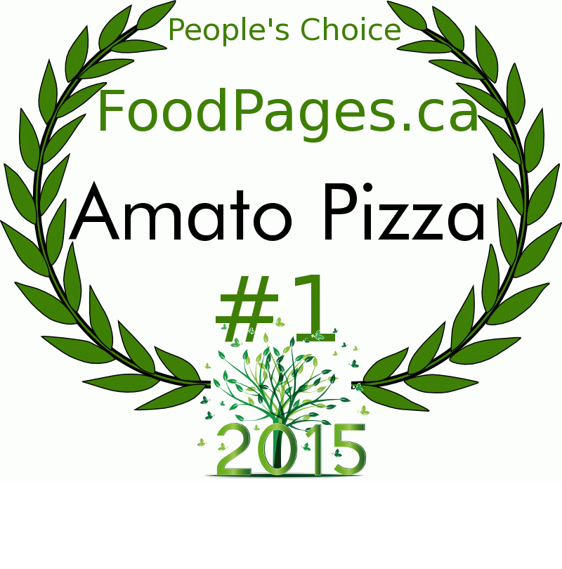 Amato Pizza FoodPages.ca 2015 Award Winner